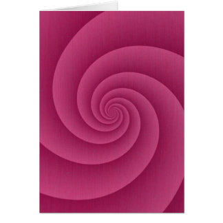 Spiral in RedWine Brushed Metal Texture Print Card