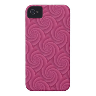 Spiral in RedWine Brushed Metal Texture Print Case-Mate iPhone 4 Case