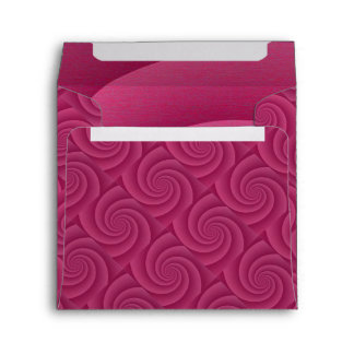 Spiral in RedWine Brushed Metal Texture Print Envelope