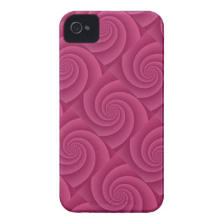 Spiral in RedWine Brushed Metal Texture Print iPhone 4 Case