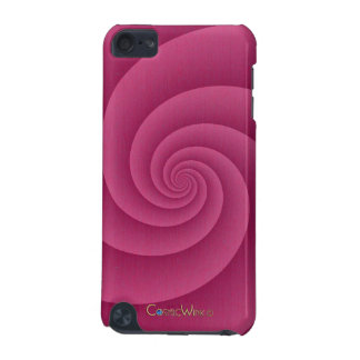 Spiral in RedWine Brushed Metal Texture Print iPod Touch (5th Generation) Case