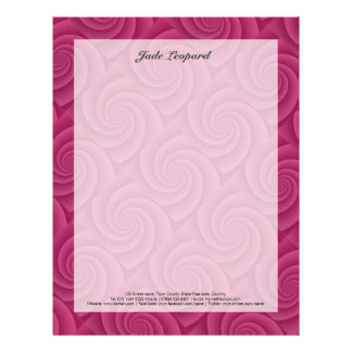 Spiral in RedWine Brushed Metal Texture Print Letterhead
