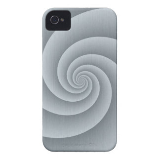 Spiral in Silver Brushed Metal Texture Print Case-Mate iPhone 4 Case