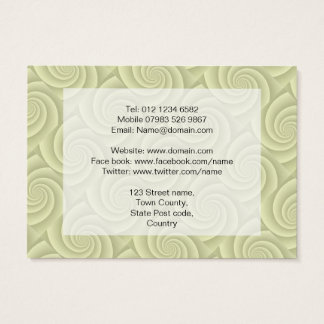 Spiral in Straw Brushed Metal Texture Print Business Card