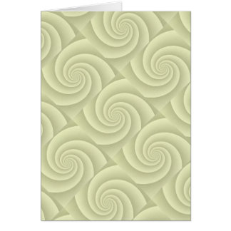 Spiral in Straw Brushed Metal Texture Print Card