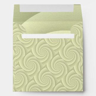 Spiral in Straw Brushed Metal Texture Print Envelope