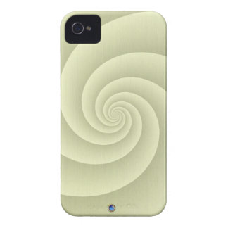 Spiral in Straw Brushed Metal Texture Print iPhone 4 Case-Mate Case