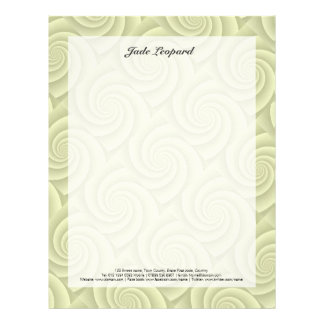 Spiral in Straw Brushed Metal Texture Print Letterhead