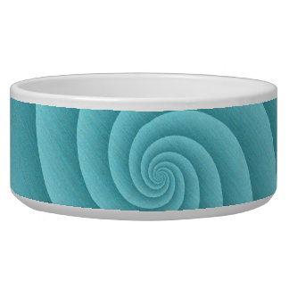 Spiral in Turquoise Brushed Metal Texture Print Bowl
