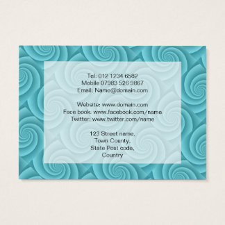 Spiral in Turquoise Brushed Metal Texture Print Business Card