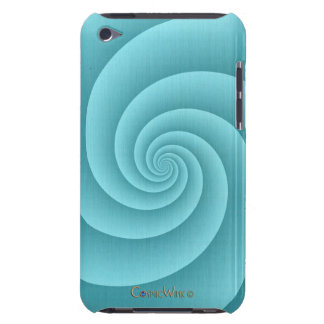 Spiral in Turquoise Brushed Metal Texture Print Case-Mate iPod Touch Case