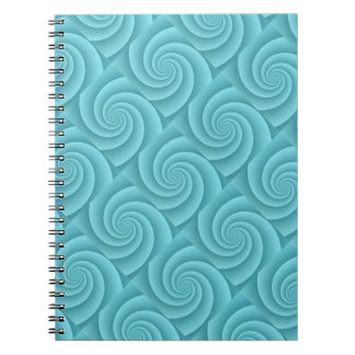 Spiral in Turquoise Brushed Metal Texture Print Notebook