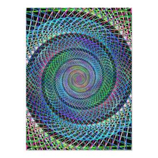 Spiral 6.5x8.75 Paper Invitation Card