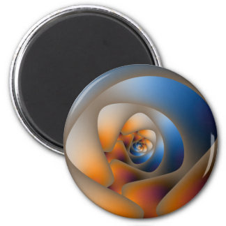 Spiral Labyrinth in Blue and Orange Magnet