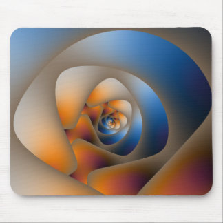 Spiral Labyrinth in Blue and Orange Mousepad
