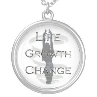 Spiral Life Growth Change Silver Plated Necklace