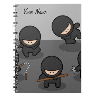 Spiral Little Ninjas Custom Notebook