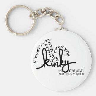 Spiral Logo Keychain - Licorice