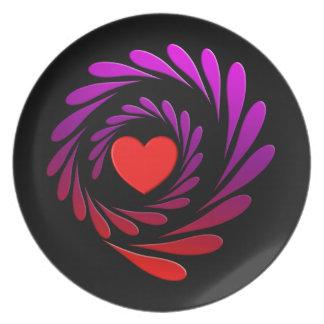 Spiral Love Plate