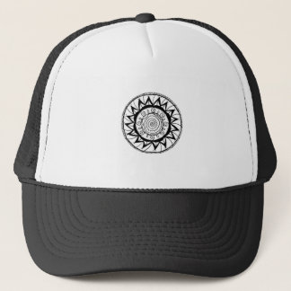 Spiral Mandala Flower Trucker Hat