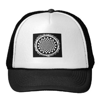 Spiral moving trucker hat