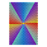 Spiral Multiplication Table - Hexagon Poster