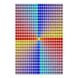 Spiral Multiplication Table - Square (Fitted) Posters