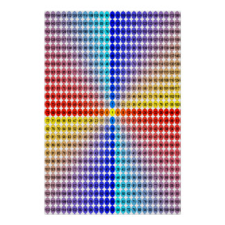 Spiral Multiplication Table - Square (Fitted) Poster