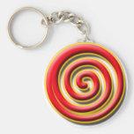 Spiral No. 1 Keychain