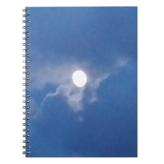 Spiral Note Book with Photo of Full Moon