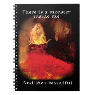 Spiral Notebook: Beautiful Monster Spiral Notebook