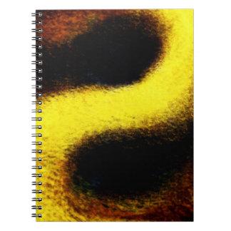 Spiral Notebook, Gold Dust Abstract Digital Art Notebooks