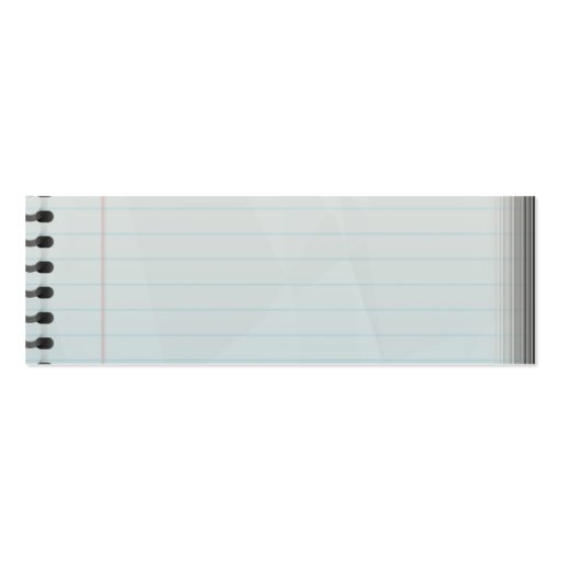 Spiral Notebook Lined Paper Business Card Templates