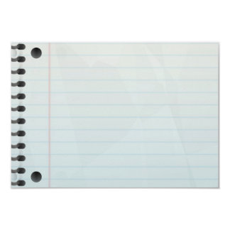 Spiral Notebook Lined Paper Card