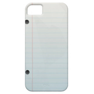 Spiral Notebook Lined Paper iPhone 5 Cover