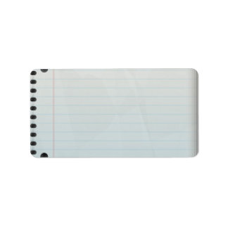 Spiral Notebook Lined Paper Label