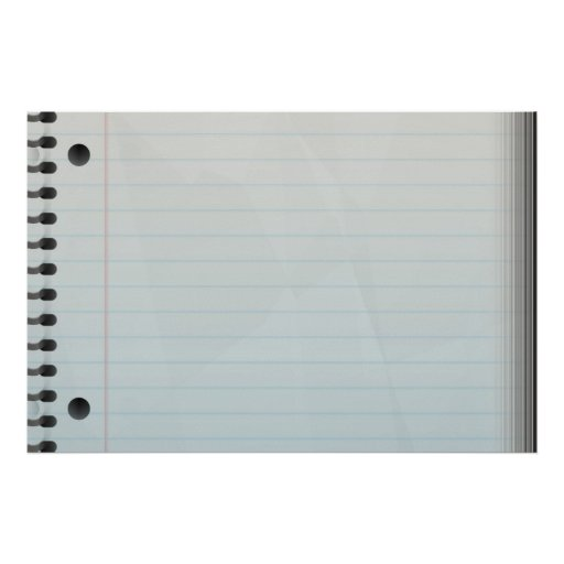Spiral Notebook Lined Paper Poster
