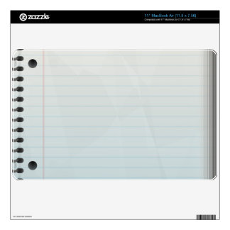 Spiral Notebook Lined Paper Skins For The MacBook Air