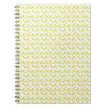 Spiral Notebook, Mistletoe Pattern, Yellow