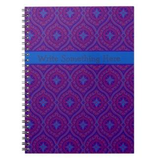 Spiral Notebook or Journal: Purple, Blue Pattern