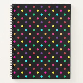 Spiral Notebook Polkadots