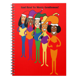 Spiral Notebook with Christmas Carollers