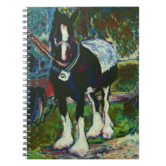 Spiral Notebook with Shire Horse