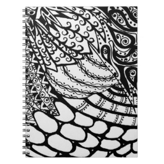 Spiral Notebook - Zen Tangle Pattern