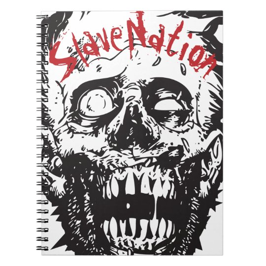 Spiral Notebook, Zombie Head, Slave Nation Notebook