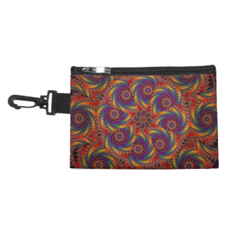 Spiral Octopus Psychedelic Rainbow Fractal Art Accessory Bag