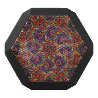 Spiral Octopus Psychedelic Rainbow Fractal Art Black Bluetooth Speaker