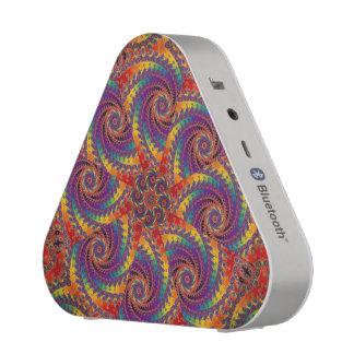 Spiral Octopus Psychedelic Rainbow Fractal Art Bluetooth Speaker