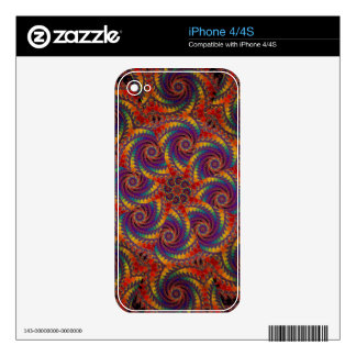 Spiral Octopus Psychedelic Rainbow Fractal Art Decal For The iPhone 4