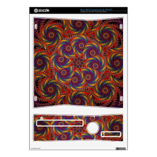 Spiral Octopus Psychedelic Rainbow Fractal Art Decal For The Xbox 360 S